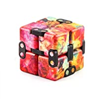 Infinity Cube Fidget Toy,Hand Killing Time Transform Cubes Magic Cubes for Stress,Pressure Reduction Anxiety Relief Toy for ADD, ADHD, Anxiety, and Autism Adult and Children (Camouflage red)