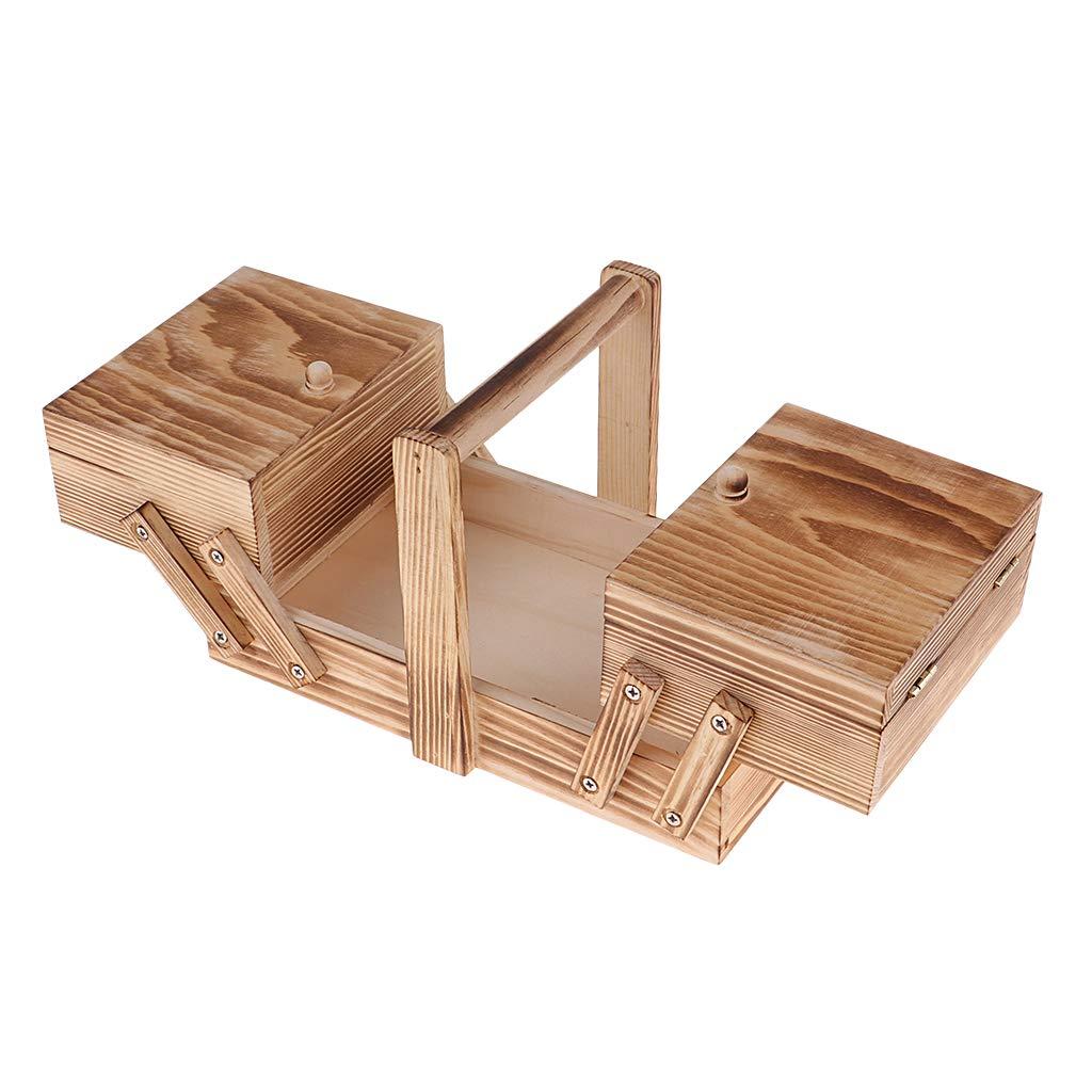 Ausziehbare Design Baoblaze Holz N/ähk/ästchen N/ähkasten ausklappbar N/ähkiste N/ähzubeh/ör