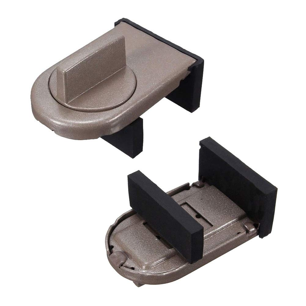 2PCS Sliding Window Lock with Key Child Safety Protection Lock Anti-Theft Door Lock Push Window Lizipai