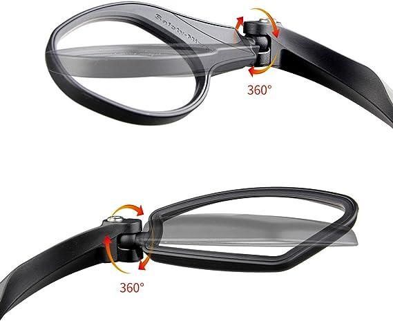 WOOAI V/élo Miroir R/étroviseur VTT V/élo de Route Cyclisme Guidon Arri/ère /Œil Blind Spot Miroir Flexible de S/écurit/é R/étroviseur V/élo miroirs