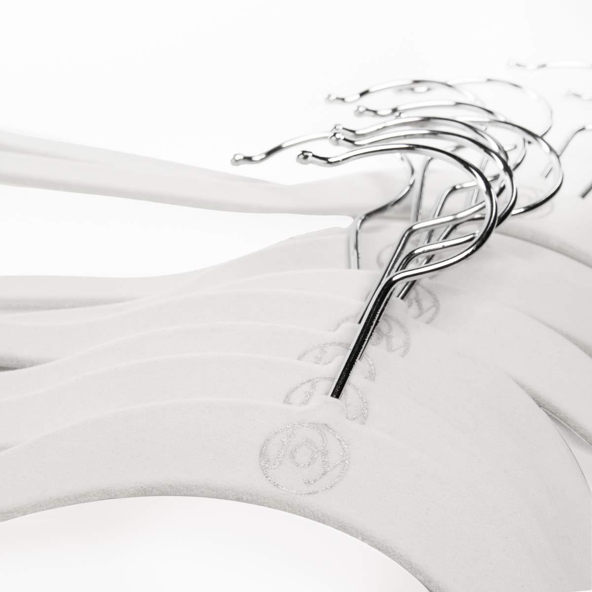 Joy Mangano 120 Pack White Huggable Hangers Non Slip Velvet Hangers Space Saving Clothes Hangers by Joy Mangano (Image #3)
