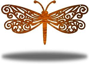 Riverside Designs Dragonfly Metal Wall Decor Yard Art Active (Copper, 12
