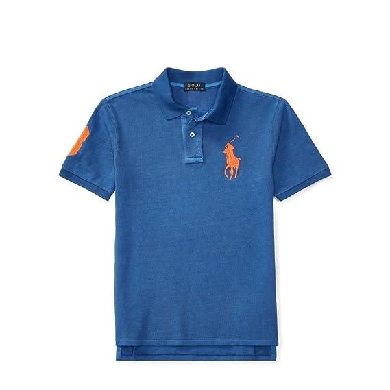 Ralph Lauren - Polo - para niño Sporting Blue Large: Amazon.es ...