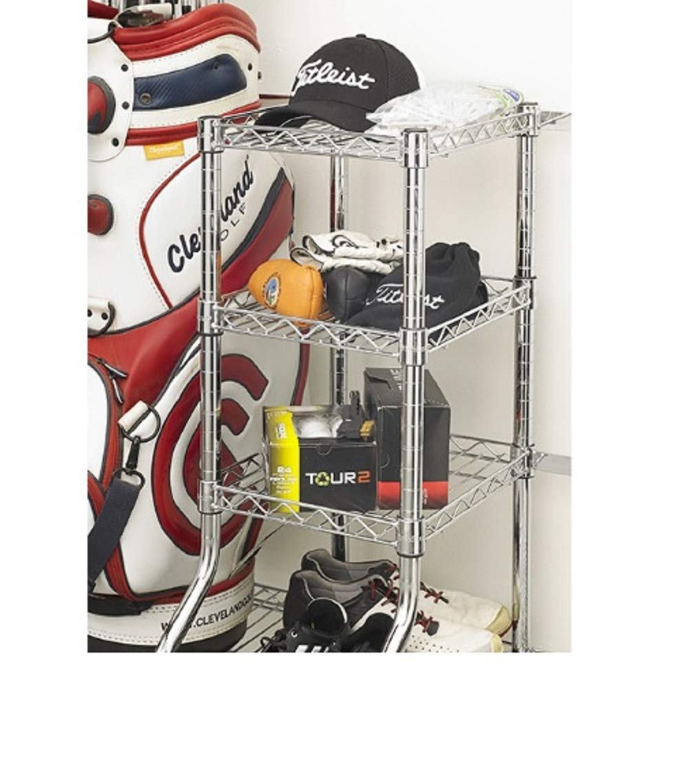 Saferacks Golf Equipment Storage Rack Two Bag Wire Shelving Unit With  Wheels Jpg 981x1100 Golf Club