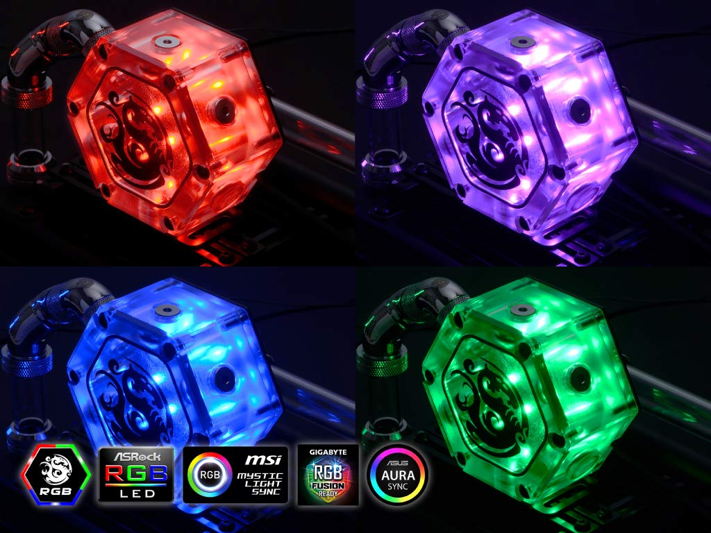 Amazon com: Bitspower Water Tank Hexagon 34 with RGB, Clear