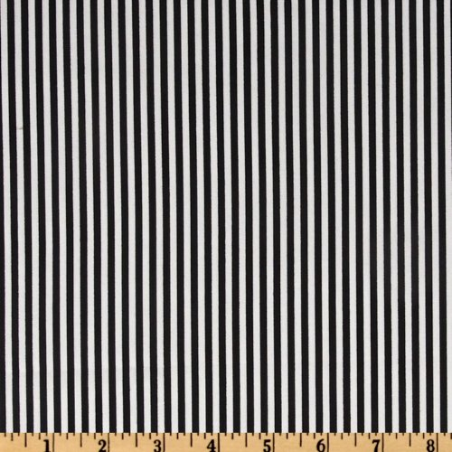 Timeless Treasures Stripes Black/White Fabric by The