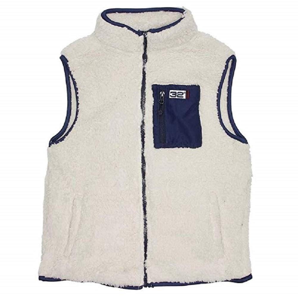 Weatherproof 32 Degrees Boys Sherpa Active Vest - Oatmeal (Medium)