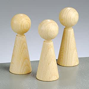 Amazon.com: 3 Wooden Cone Body Shapes - 60mm | Wooden ...