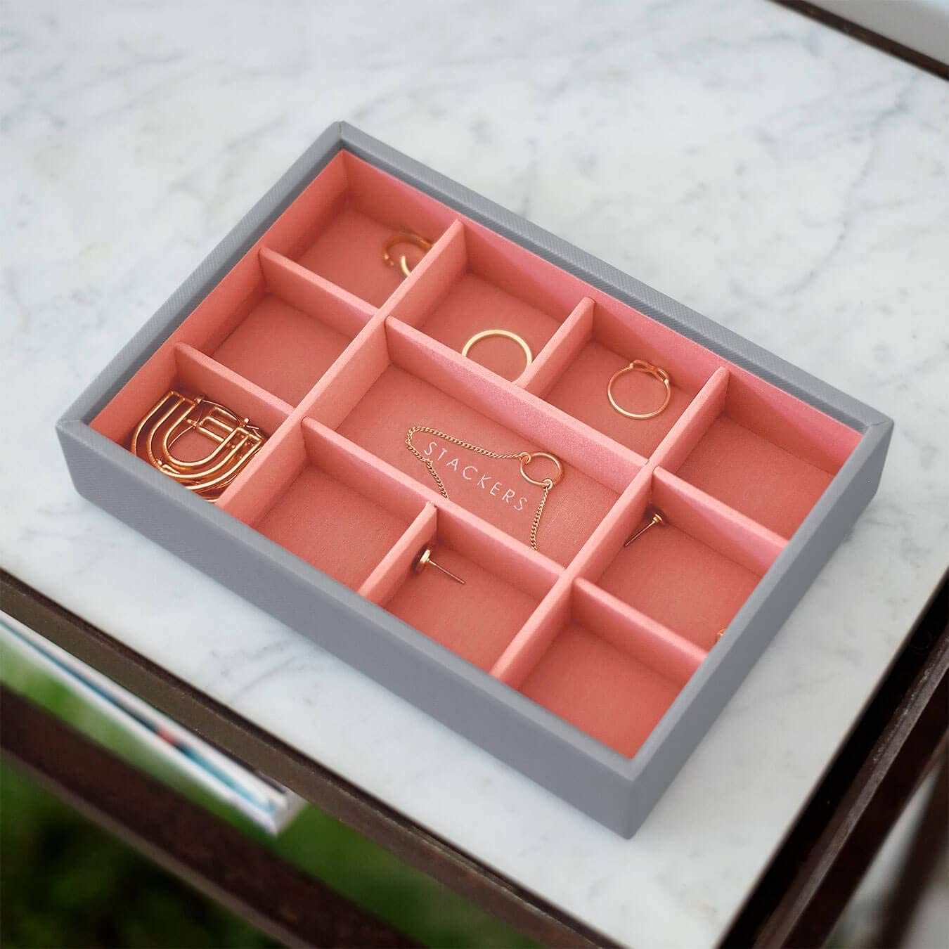 Stackers Taupe Mini Jewellery Box Trinkets Layer
