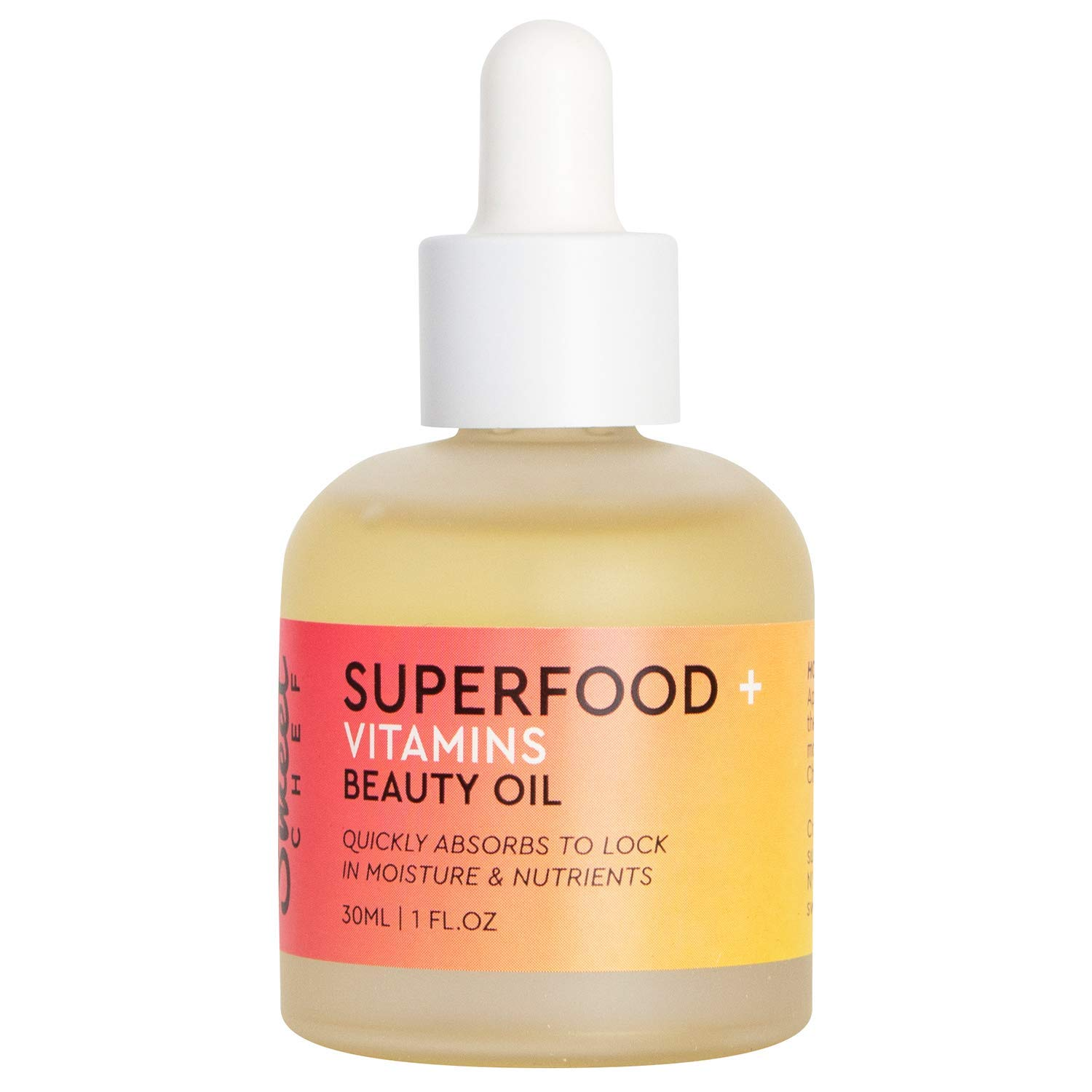 Sweet Chef Superfood + Vitamins Beauty Oil - Lightweight, Dry Facial Oil with Jojoba, Carrot Extract + Apple Seed Oil, No Mineral Oil or Synthetic Fragrance (30ml / 1 fl oz)