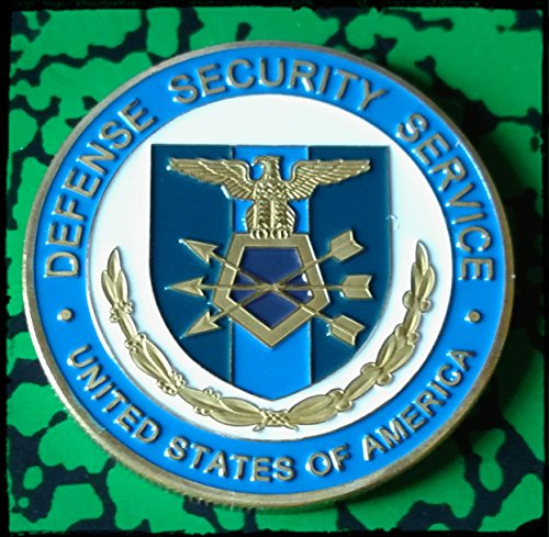 [Defense Security Service DSS Colorized Challenge Art Coin] (Dss Coin)