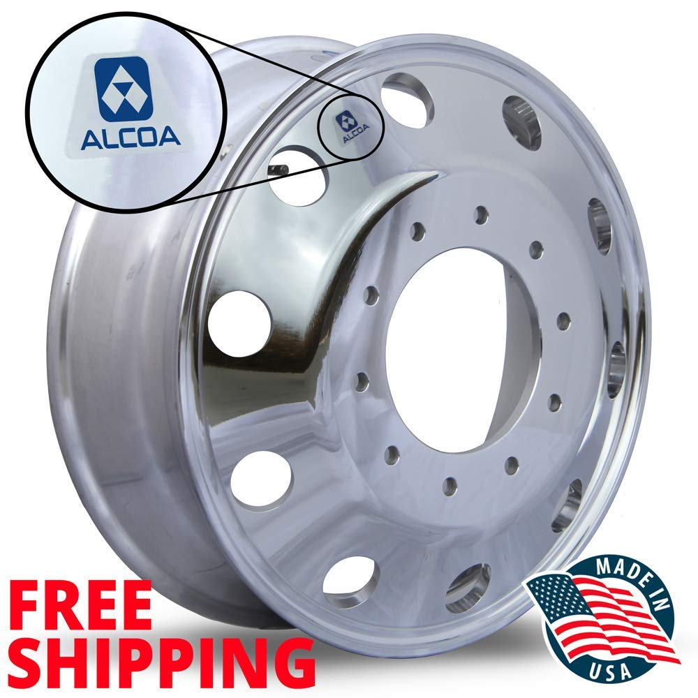 Alcoa 19.5 Lvl One Wheel Package for a Ford F450 /& F550 Polished 2005 - current