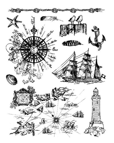 Viva Décor 400301900 At the Seaside Cle - Decor Stamp Shopping Results