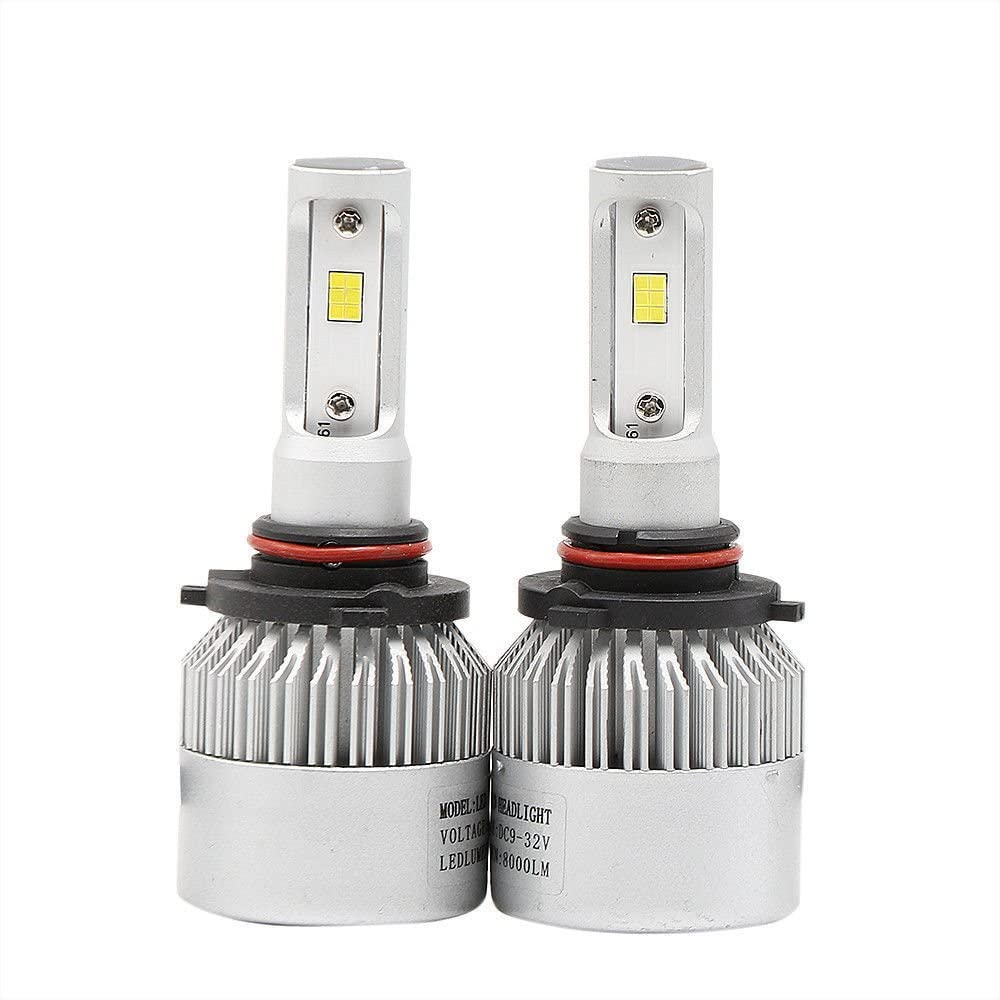 Deeirao 9006//9005//HB3//HB4 8000Lumens Super Brightness CSP Chips All-in-One LED Headlight Conversion Kit Plug /& Play Automotive Headlamp Bulb 6500K Cool White