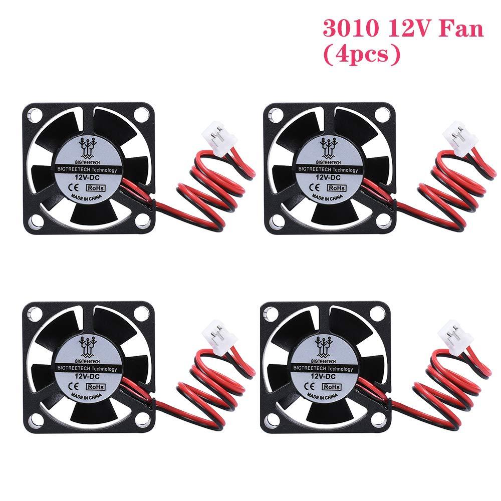 BIGTREETECH Ball Bearing 3010 12V 2Pin 3CM 30mm 30x30x10mm Micro DC Mini Brushless Cooler Cooling Fan (4pcs)