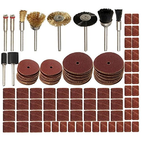 150pcs 1/8 Inch Shank Rotary Tool Accessories Set for Dremel Sanding Polishing Tool by BephaMart