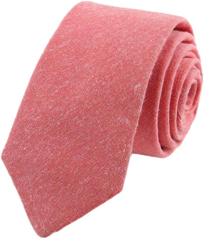 JUNGEN Corbata de Informal para Hombres Corbata de Color Liso ...