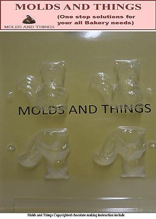 Moldes y cosas 3D diseño de ardilla Chocolate moldes para dulces y moldeado de instrucciones © - 3 juego de: Amazon.es: Hogar