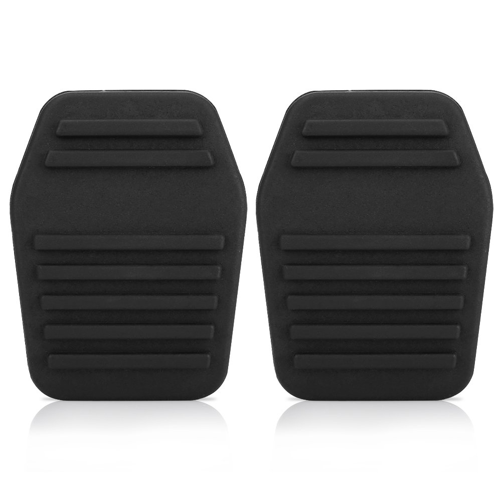 A Pair of Car Clutch Pedal Pads Auto Rubber Clutch Pedal Cover Transit Black Keenso