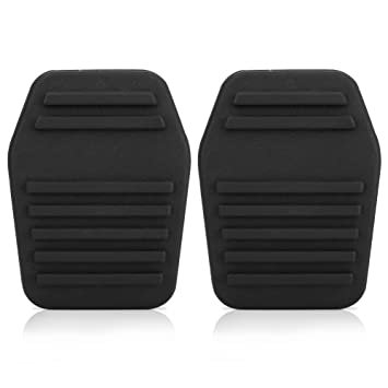 Un par de almohadillas para pedal de embrague de coche, cubierta para pedal de embrague de goma,color negro: Amazon.es: Coche y moto
