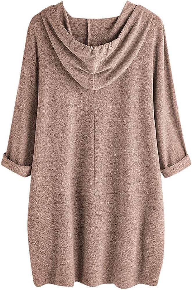 Cathalem Women Irregular Hem Long Fashion Hoodies Cartoon Printed Sweatshirt Loose Casual Pullovers Tunics Tops