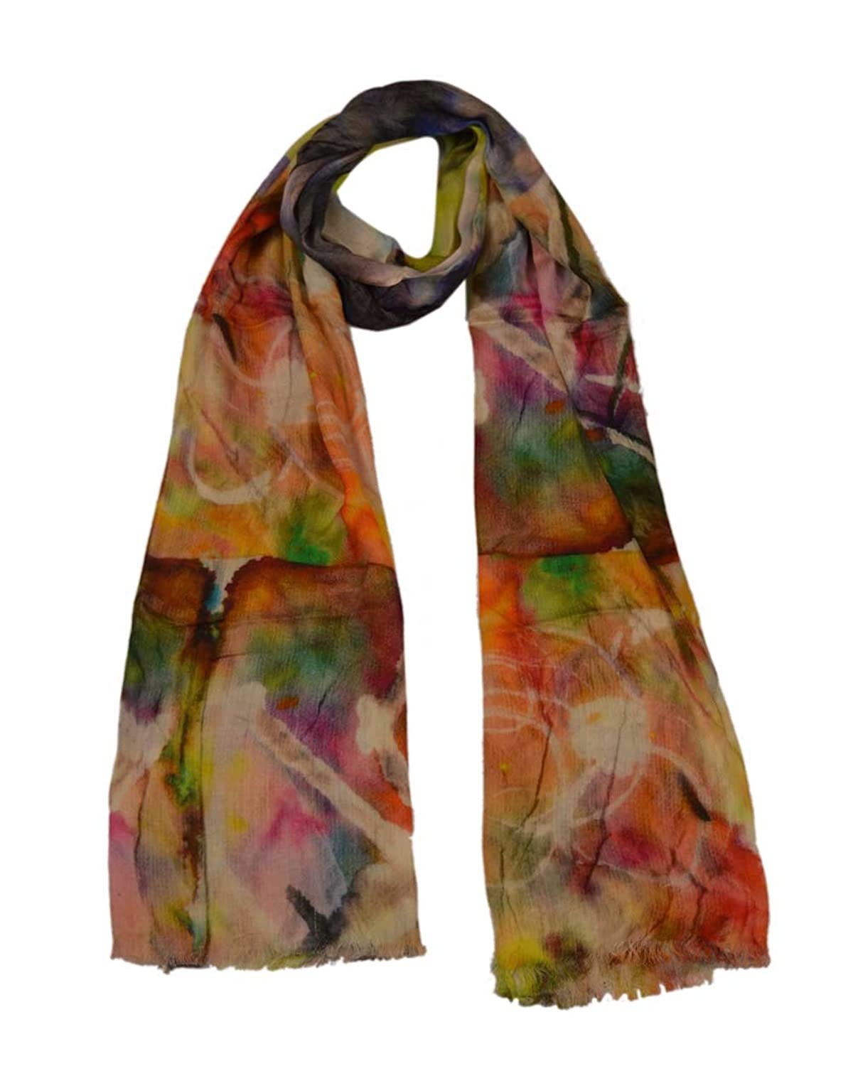 The Scarf Hut New Style Accessories Multi Artistic Modal Digital Print Scarf