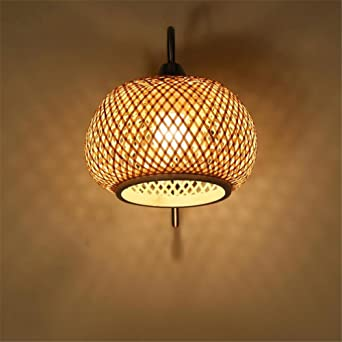 Muraille De Tressé Chine Lampe Murale Simple Bambou Applique Salon K3u1TlcJ5F