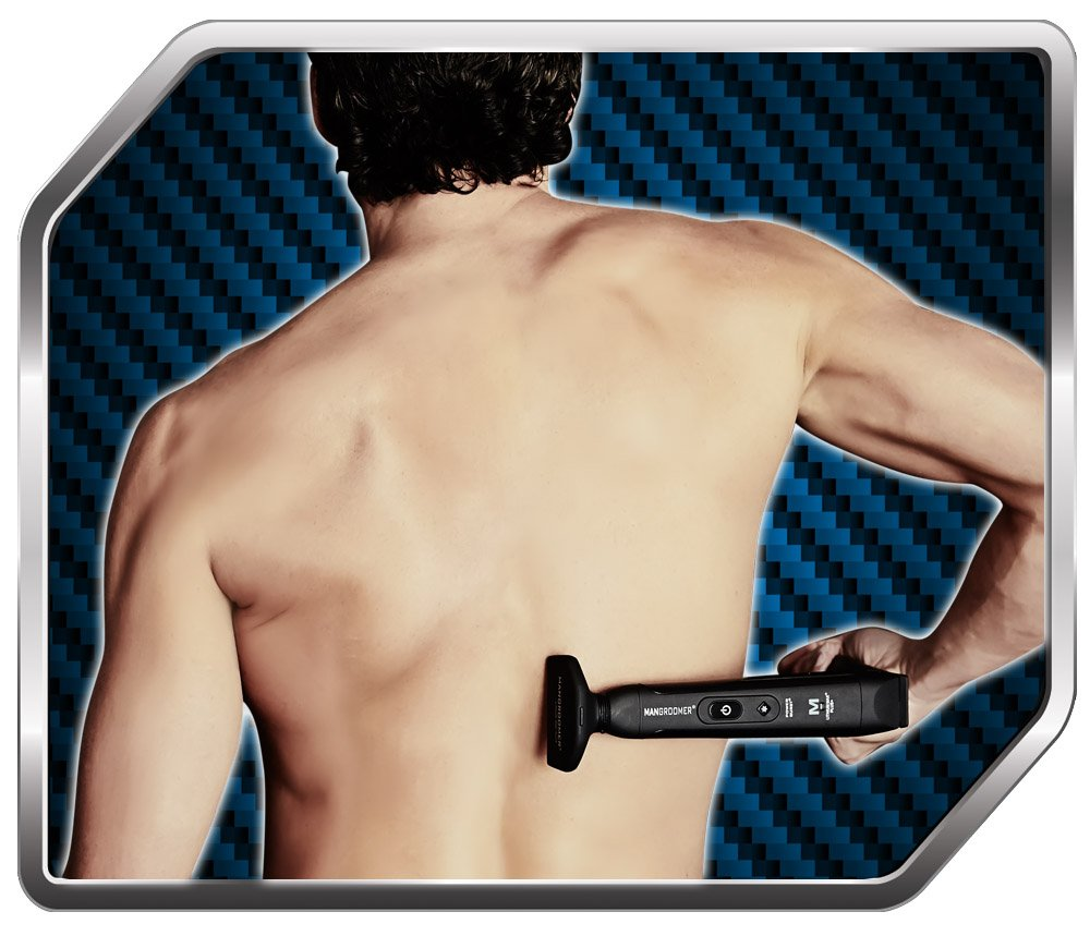 MANGROOMER - LITHIUM MAX PLUS+ Back Hair Shaver (New 5th Generation) Complete Attachment Head With Shock Absorber Neck And New 50% Wider Blade Design by MANGROOMER (Image #8)
