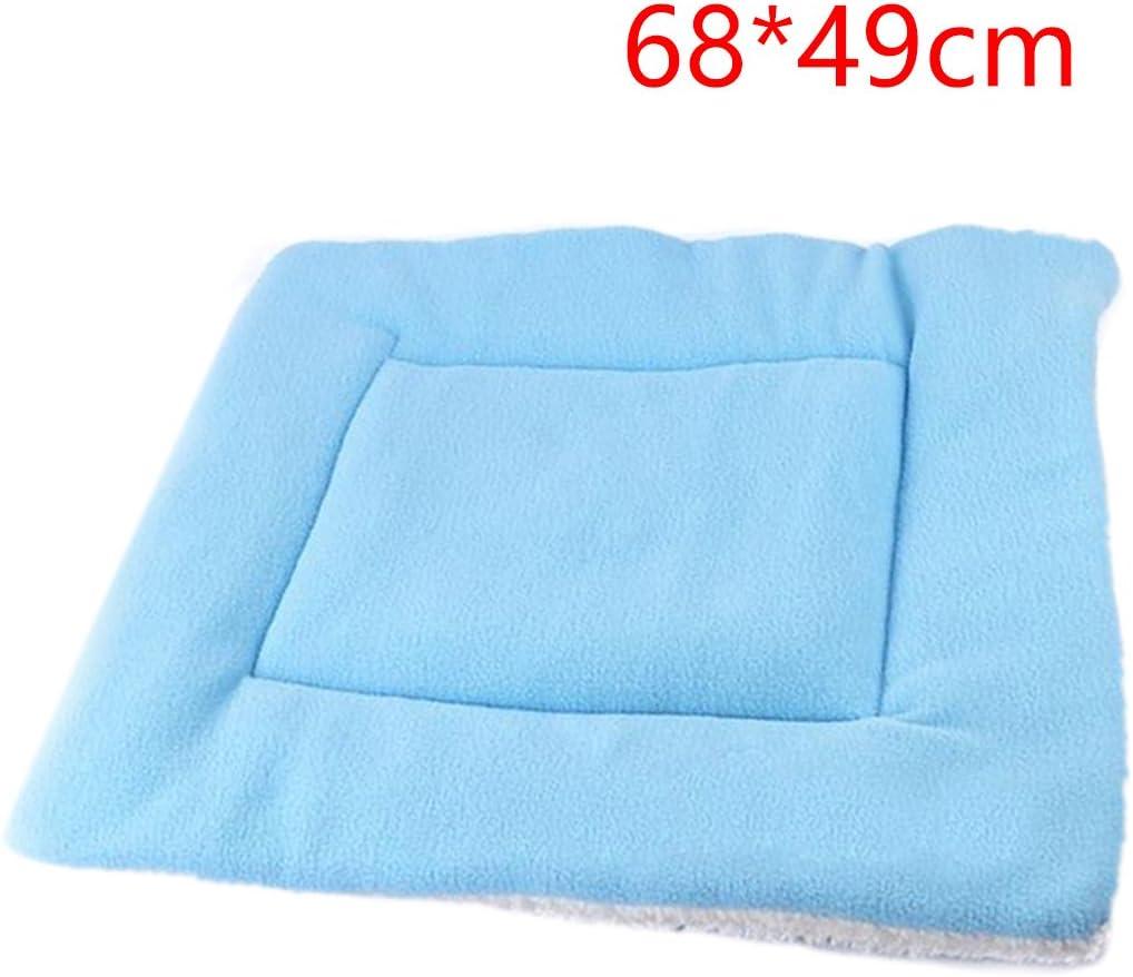 Luwu-Store Small Medium Large Cat Dog Pet Mat Soft Blanket Sleep Warm Bed Padding Cushion-Blue S