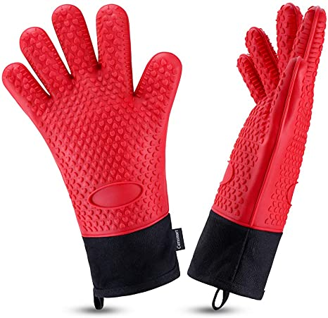 Silicone BBQ Heat Resistant Gloves Oven Grill Pot Holder Kitchen Cooking Mitts