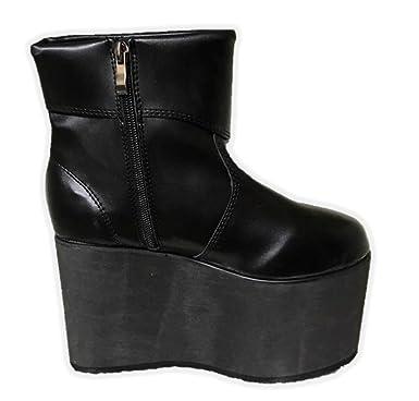17becdb326a Amazon.com  Black Monster Platform Boots Frankenstein Shoe Halloween  Costume Accessory SM-XL  Clothing