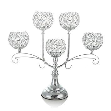 Vincigant Silber Kristall Kerzenstander Fur Hochzeit Dekoration