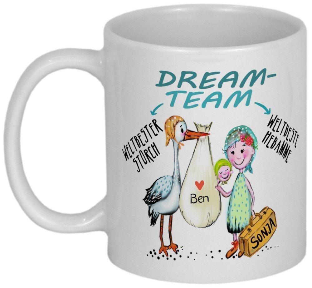 My Sweetheart® Hebamme Geschenk | süße PERSONALISIERBARE Tasse | Dankeschön Geschenk für Hebammen