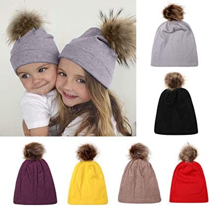 235c79e62f683 Image Unavailable. Image not available for. Color  Gbell Toddler Baby  Winter Hats Pompom Hemming Cap