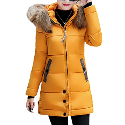 Zhhyltt Caliente para el invierno Winter Korean Version Cotton Slim Down Jacket & Coats Thick Fur Ho...