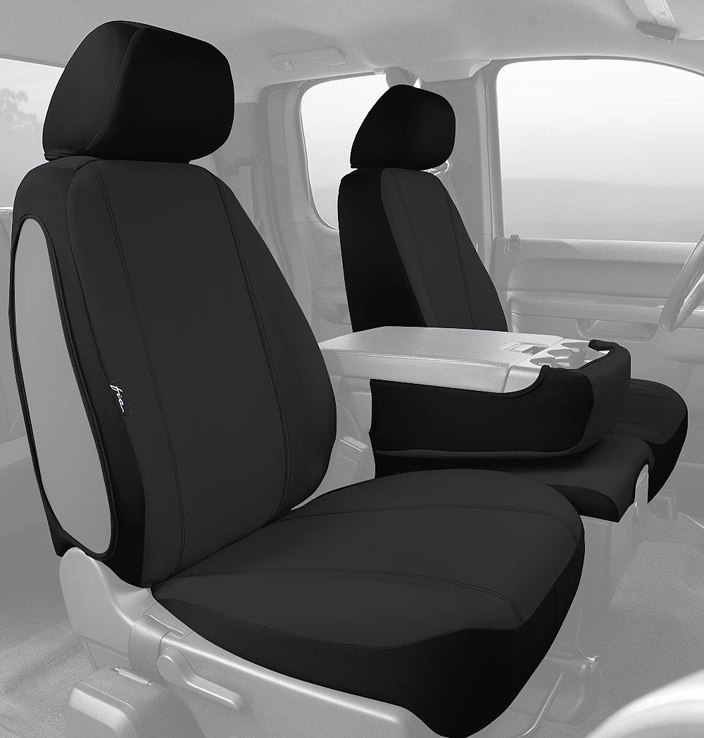 Black Poly-Cotton, Fia SP88-31 BLACK Custom Fit Front Seat Cover Split Seat 40//20//40