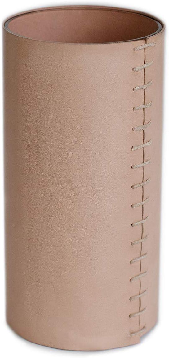 Glimpse & Hollow Leather Vase - Accent Vase Decor   8 Inch Vase   Flower Vase and Decorative Vase   Modern Vase for Living Room Decor