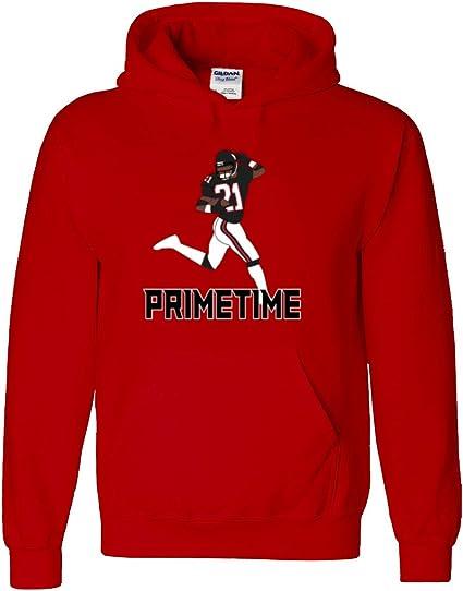 "Deion Sanders Atlanta Falcons /""Prime Time/"" jersey shirt Hooded SWEATSHIRT"