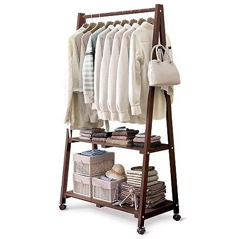 Amazon.com: NPZ Wooden Coat Rack,Portable Coat Rack Solid ...