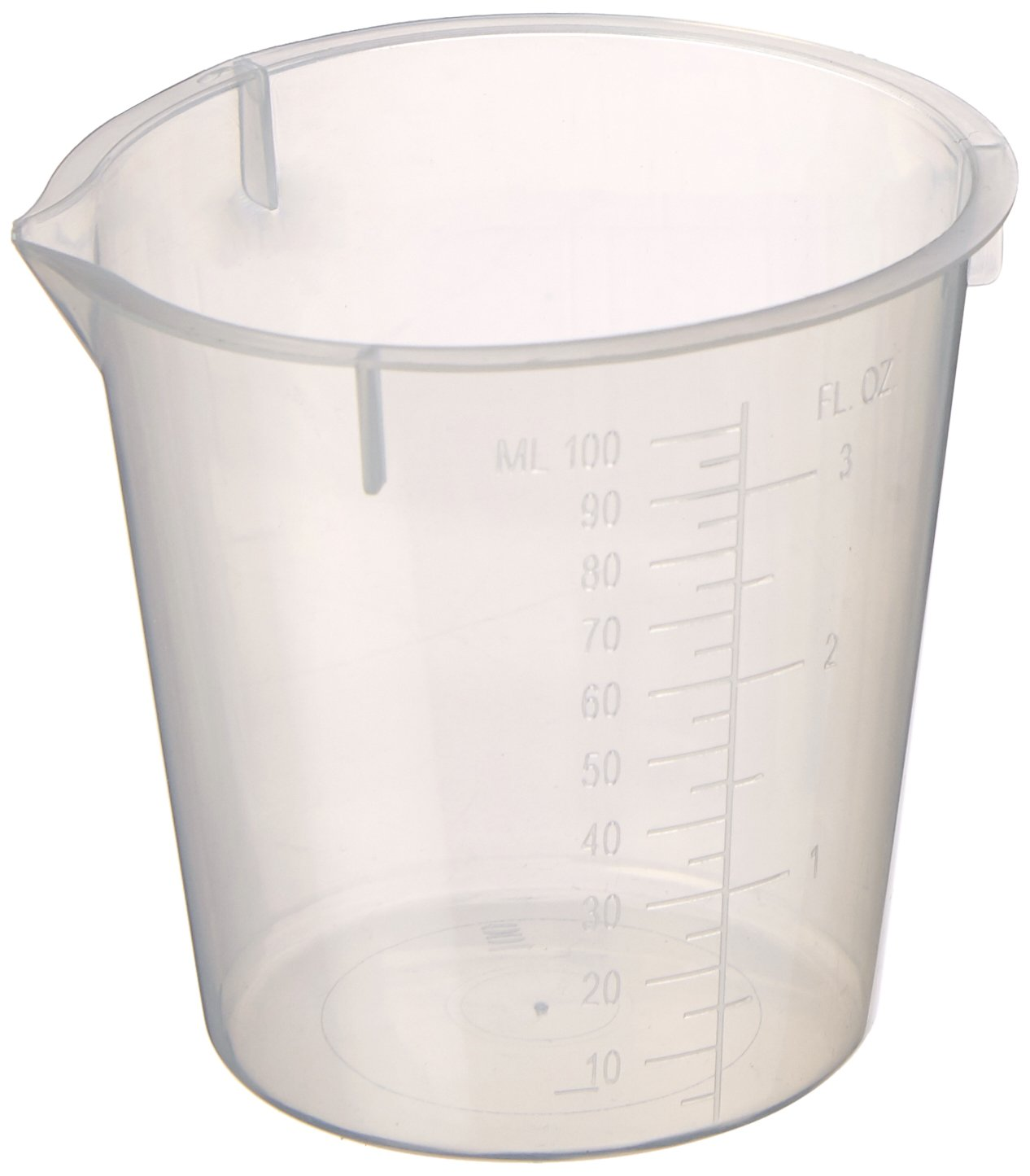 Maryland Plastics L-1230 Polypropylene Disposable Beaker, Graduated, 100 mL (Pack of 100)
