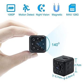 Camara Espia Oculta Mini Videocámara TANGMI 1080P HD Cámara de Vigilancia Detección de Movimiento Visión Nocturna IR para el Hogar, Oficina, Coche, ...