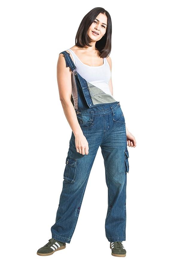 Beige Verstellbare Beinl/änge Mode Latzhosen DAISYPORPOISE Uskees Damen-Latzhose
