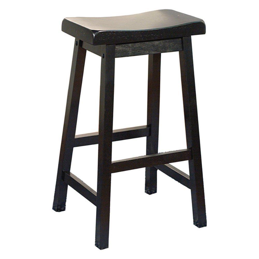 amazoncom target marketing systems 30inch arizona wooden saddle stool white kitchen u0026 dining