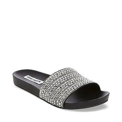 7d42ee33283 Steve Madden Women's Dazzle Flat Sandal
