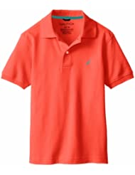 (2折)$5.90,诺帝卡Nautica Boys 8-20岁男生穿POLO Solid Polo Shirt蓝