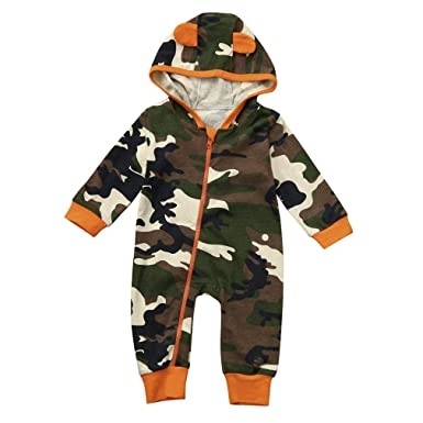 237d7e499 erthome 0-18 Months Newborn Infant Baby Boy Girl Camouflage Hooded ...