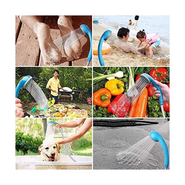 61utT acmYL LIBERRWAY Campingdusche Akku Camping Dusche Outdoor Heiße/Kühle Dusche Mit 3 Jahren Garantie wiederaufladbarer Akku und…