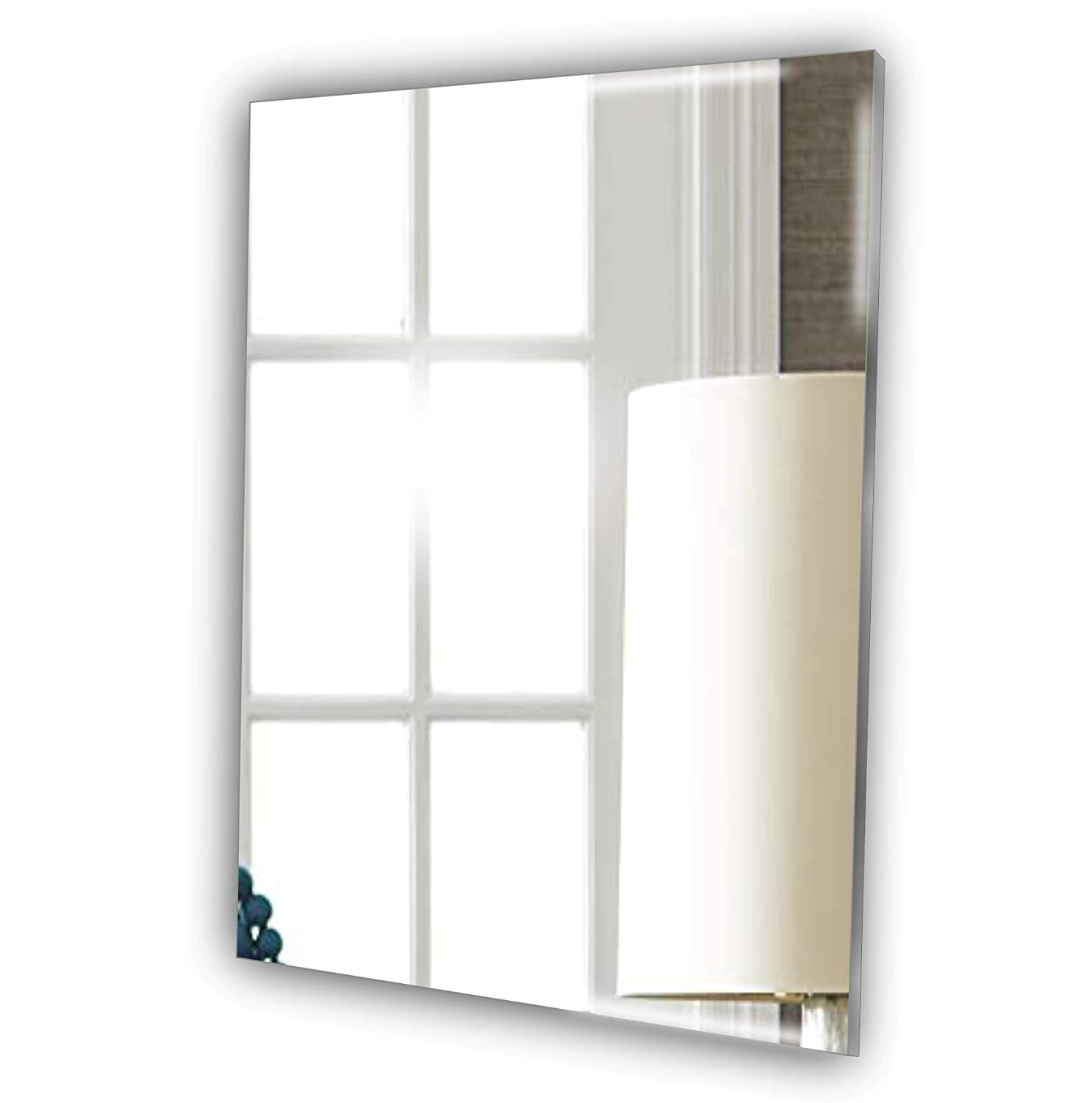 Frameless Rectangle Mirror * Ideal For Shaving - No DIY No Nail Needed - Complete Kit - Bedroom - Living Room - Hallway - Any Room Mirrors-Interiors