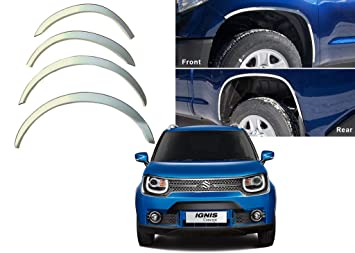 Auto Pearl Silver Wheel Arches Fender Trim Set Of 4 Amazonin Car Motorbike