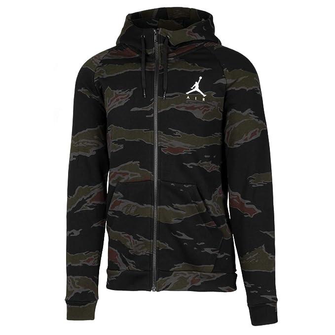 low priced 70748 8318d Nike Jordan Jumpman Fleece Camo - Talla 2XL - Sudadera Com Capucha Full-Zip  para Hombre - Color Negro Amazon.es Ropa y accesorios